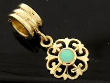 Bd102/76 Genuine 9K Gold Natural Australian Opal Fleur-de-Lis Dangle Drop Bead