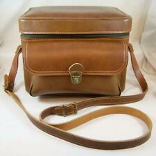 Vtg Brown Hard Side Carry Case Camera Bag Train Travel Steampunk Faux Leather?