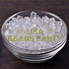 25pcs 6mm Cube Square Faceted Crystal Glass Charms Loose Spacer Beads Clear