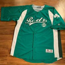 MLB Genuine Merchandise L Green and White Cincinnati Reds Jersey
