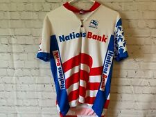 Giordana Nations Bank Vintage Bicycle Jersey Size Medium