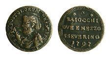 pcc1833_14) San Severino Pio VI (1774-1799)  Sampietrino 2 Baiocchi e 1/2 1797