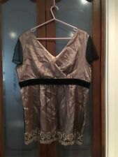 Black And Gold Lace Top Katies Size 18