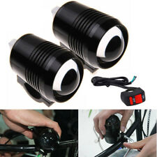 2PC CREE U2 30W Motorcycle LED Driving Headlight Fog Spot Light For BMW Black