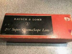 "Bausch & Lomb 16mm 2 1/2"" SUPER CinemaScope Projection Lens"
