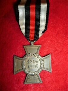 Germany WW1 - GERMAN Hindenburg Cross Medal without Swords G & S Maker