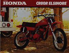 1980 HONDA CR80R MINI-BIKE Original Motorcycle BROCHURE Vintage Motocross CR80