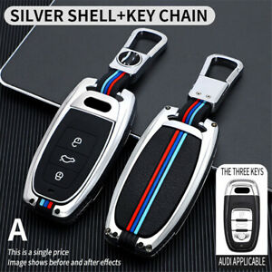 Car Remote Smart Key Protector Cover Case For Audi  A6 Q5+Auto Keychain Keyrings