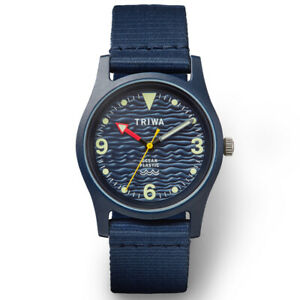 Triwa Deep Blue unisex watch –100% made from recycled ocean plastic, RRP $150