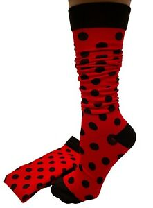 Red and Black Polka-dot Fun Functional Compression Socks S/M