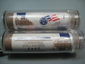 """2009 p/d US Mint Wrapped Rolls (2 Rolls) """"Presidency"""" In Tubes.  #9"""