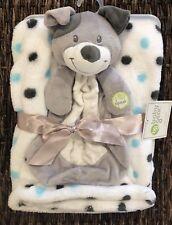 Baby Gear Puppy Dog Security Blanket Polka Dot Lovey Baby Blanket