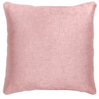 "BLUSH ROSE PINK SOFT VELVET TOUCH TEXTURED PIPED 18"" CUSHION COVER £4.99 EACH"