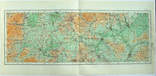 Shropshire Staffordshire & Leicestershire - Original 1922 Ordnance Survey Map.