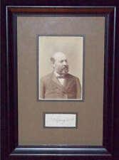 JAMES A GARFIELD U.S. President Signed Framed Autograph PSA/DNA COA