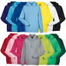 Russell MEN'S LADIES HOODIE HOODED SWEATSHIRT SWEAT PLAIN HOOD POCKET TOP XS-2XL