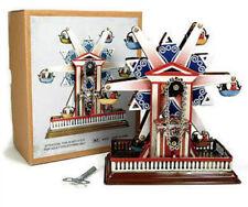 Collectible Ferris Wheel Wind Up Tin Toys W Key Home Decor Gift Detailed NIB