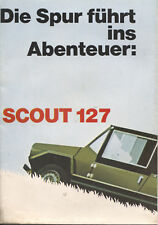 Scout - 127 Fiat Fissore brochure/prospekt/folder German Rare/Selten
