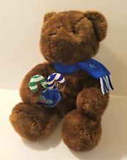 "14"" Winter Snow Teddy Bear Stuffed Plush Childs Toy Animal, Holiday"
