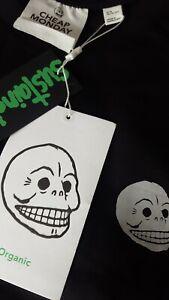 BNWT Cheap Monday Tiny Skull Black T Shirt Size Extra Small Free P&P