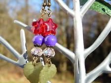 Handgefertigter Mode-Ohrschmuck aus Glas mit Stern-Schliffform
