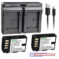 Kastar Battery Dual USB Charger for Panasonic DMW-BLF19 BLF19 DMC-643 Battery