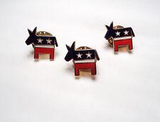 3 Pcs - Democratic Donkey Lapel Pins - dem1