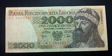 POLAND BANKNOTES- 2000 ZLOTYCH 1979 + gratis brnknotes CROATIA !!!