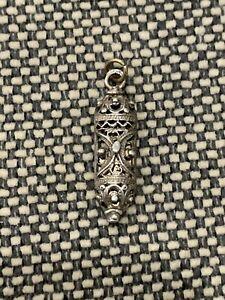 Vintage Reuven Signed Israel Sterling Silver Judaica Filigree Pendant