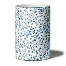 Blue & White Ivy Design Bathroom Cup Tumbler - Holds Toothbrush, Combs & More