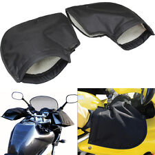 Thermal Motorbike Handle Bar Muffs Motorcycle Hand Protector Mitts Gloves Fleece
