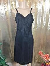 Full Slip, Black Vintage Adonna Dacron Poly Blend Size 34 # 082110
