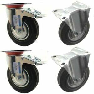 Ruote girevoli 4 pezzi Ruote girevoli universali Ruote da 1Ruote bianche per mobili Trolley Chair