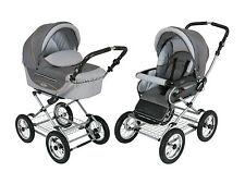 Roan Kortina Kinderwagen Stroller 2 in 1 mit Stubenwagen und Sitz-Shades of Grey color