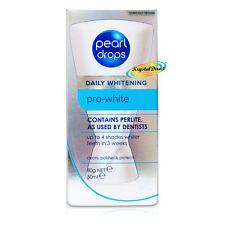 Pearl DROPS giornaliera PRO WHITE SBIANCANTE MACCHIE Rimozione la perlite toothpolish 50ml