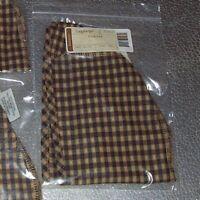 Longaberger Khaki Check LARGE CORNER Basket Liner ~ Made in USA ~ New in Bag!
