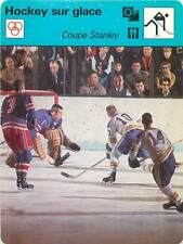 FICHE CARD: Coupe Stanley Cup Sans masques Hockey sur glace ICE HOCKEY 1970s