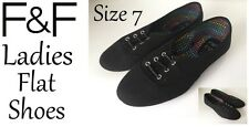 Ladies Flat Shoes Black Size7 New With Tags FREE DELIVERY