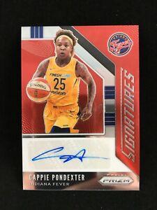 Cappie Pondexter 2020 WNBA Prizm Signatures Auto Indiana Fever