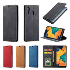 For Samsung A20 A40 A50 A70 Magnetic Leather Case Flip Stand Wallet Card Cover