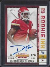 DE'ANTHONY THOMAS 2014 CONTENDERS ROOKIE INK GOLD ON CARD AUTO RC #D 15/25