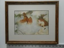 Owen Gromme Ruffed Grouse And Weasel framed 11X14 bow