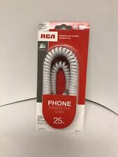 Rca Replacement (Tp28Wr) (25 Ft) White Phone Handset Coiled Cord (330Lt) *New*
