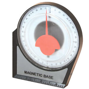 New Magnetic Inclinometer Roofing Scaffolding Angle Finder Level Gauge 100mm