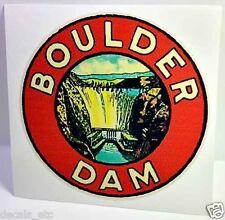 Boulder Dam Vintage Style Travel Decal / Vinyl Sticker, Luggage Label