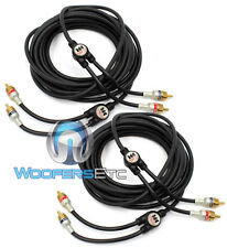 PKG 2pc) MONSTER CABLE 2 CH 16 FOOT FEET IMXLN RCA JACK WIRE CHORD 15 17  = 4 CH