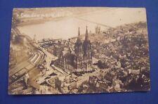 Cöln, Dom m.Rheinbrucke Cologne RP Postcard c.1930