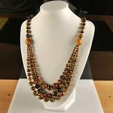 g2834  4-12mm Tiger eye necklace 20''