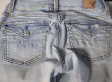 AMERICAN EAGLE OUTFITTERS SUPER STRETCH WOMENS JEANS Size 0 - FAST SHIP A02-14