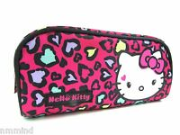 "Hello Kitty Pink Hearts Make Up Accessories Bag ~ 8""L x 3.5""H x 2""D (US SELLER)"